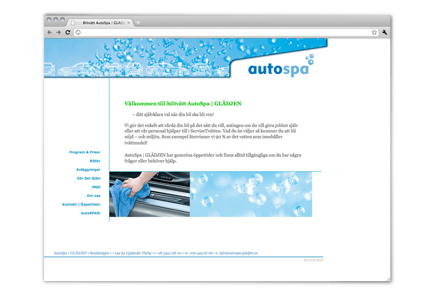 design, project and production of AUTOSPA website